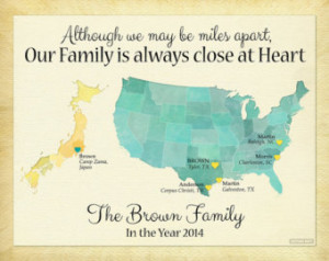 Distance Family Quotes Long distance family gift,