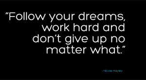 Nicole's inspirational quote