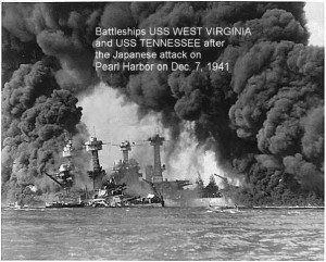 The Japanese Attack on Pearl Harbour; 7 Dec 1941