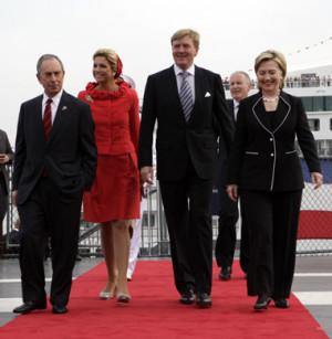 Mayor Bloomberg, Princess Maxima, Prince Willem Alexander, Minister ...
