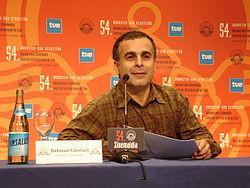 Bahman Ghobadi lors du Festival international du film de Saint ...