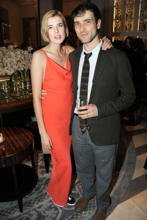 glamour celebrity pictures today agyness deyn and ed stoppard at a
