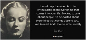 The 25 Best Fay Wray Quotes | A-Z Quotes