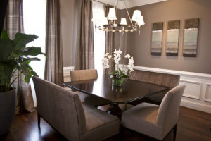 The dining room wall color is called Spalding Gray by Sherwin Williams ...