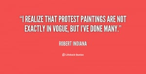 realize that protest paintings are not exactly in vogue, but I've ...