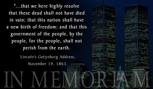 Today and everyday we will remember that there is nothing to gain on ...