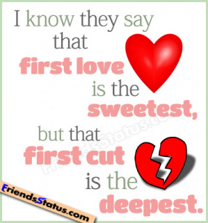 first love sad quotes status