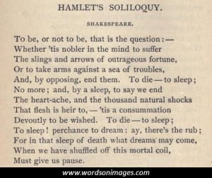 Famous hamlet quotes