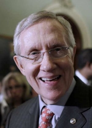 Senator Harry Reid, Senate Majority Leader....Dingy Harry, what a pig.