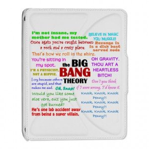 Bbq Gifts > Big Bang Theory Quotes iPad 2 Cover