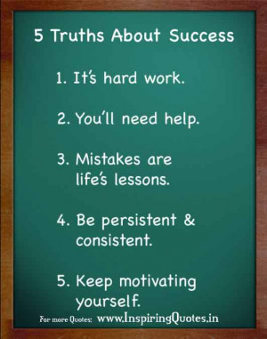Truth about Success in Life – Motivational Life Quotes