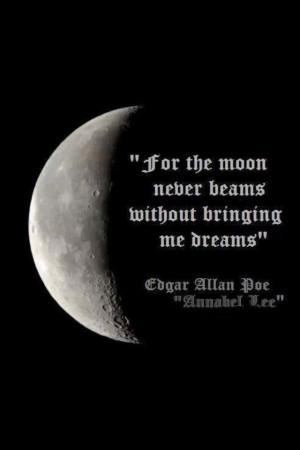 Quarter moon/quote: Inspiration, Edgar Allan Poe, Quotes, Annabel Lee ...
