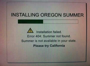 Oregon Summer Fail