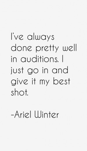 Ariel Winter Quotes amp Sayings
