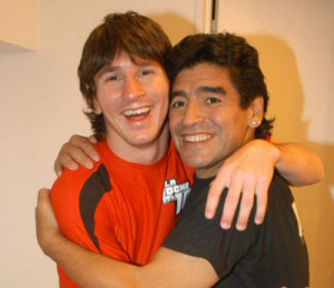 Messi y Maradona, sus mejores fotos juntos