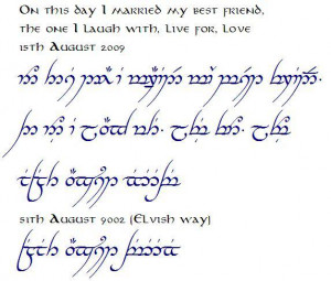 Elvish Lord Of The Rings Elvish Quotes. QuotesG...