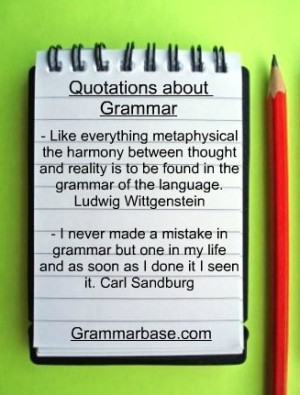 Quotes about grammar