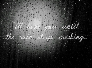 black and white, cute, love, photography, quote, rain, raindrops ...