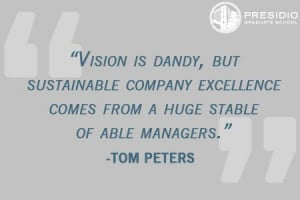 ... excellence comes from a huge stable of able managers.