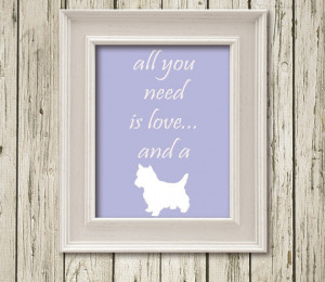 is love and a dog Quotes Printable Instant Download Print Poster Wall ...