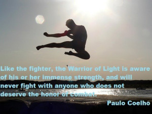 Like the fighter the Warrior of Light is aware of his immense strength ...