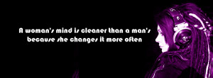 ... timeline cover Girl attitude quotes (A woman's mind is cleaner
