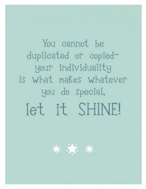 Shine On, my friend