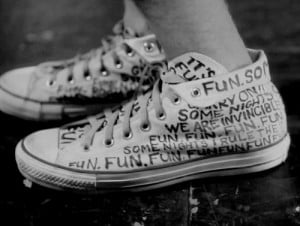 Nate Ruess of Fun.'s Shoes