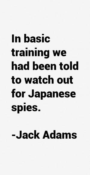 Jack Adams Quotes & Sayings