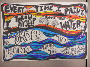Use art quotes to teach lettering and composition.
