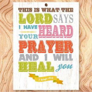 Healing Bible Scripture - Christian Bible Scripture Quote Art Print ...