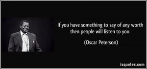 More Oscar Peterson Quotes