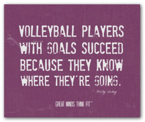 Volleyball players with goals succeedbecause they know where they're ...
