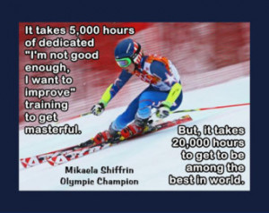 Mikaela Shiffrin Photo Quote Poster Fan Wall Art Print 5x7