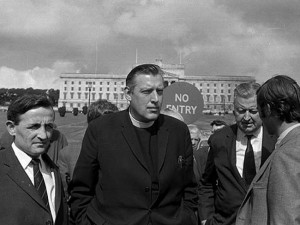 Ian Paisley at Storemont, 1969. Photo by: National Library of Ireland