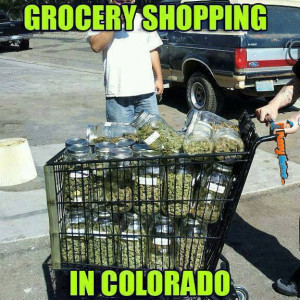 Funny Meme – Grocery shopping in Colorado