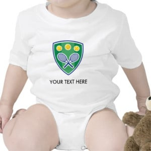 Cute tennis for baby. Add name or quotes Rompers