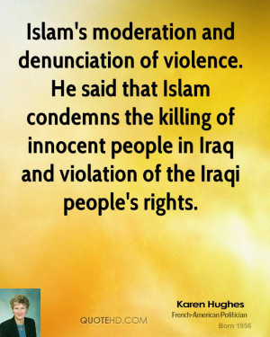 ... killing of innocent people in Iraq and violation of the Iraqi people's
