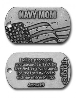 navy mom dog tag necklace