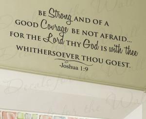 Courage Bible Quotes God bible vinyl quote