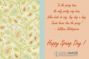 Happy Spring Day Card with quote
