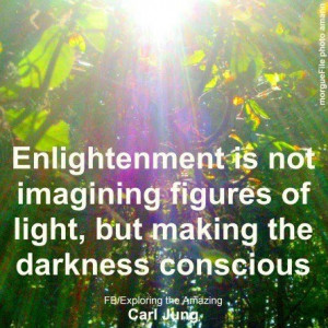 Casting shadows - Enlightenment (Carl Jung).