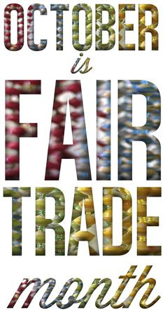 ... much for supporting fair trade! support fair, trade month, fair trade