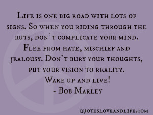 Life Is One Big Road With Lots Of Signs, So When You Riding Through ...