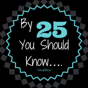 By 25, You Should Know : My 25th Birthday
