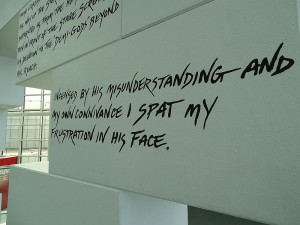 File:Roger Waters Quote from Pink Floyd The Wall Exhibit (details ...