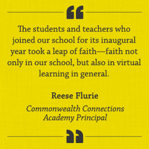 "Reese Flurie Quote: ""The students and teachers who joined our school ..."