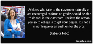 Athletes who take to the classroom naturally or are encouraged to ...