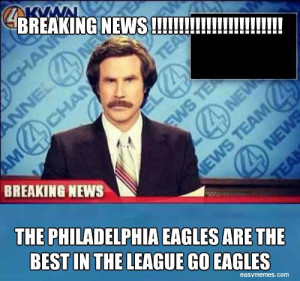 BREAKING NEWS !!!!! THE PHILADELPHIA EAGLES ARE THE ...