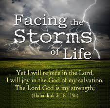 Facing storms...